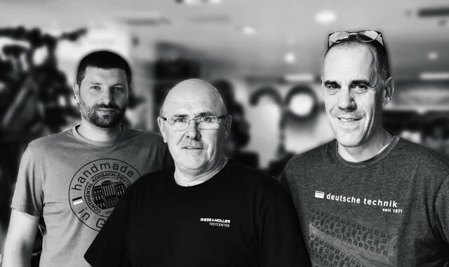 photo de gauche à droite jacky prioul, jean guérin, pascal leblay.