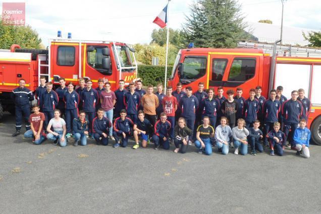 Doué En Anjou 41 Jeunes Formés Pour Devenir Sapeur Pompier
