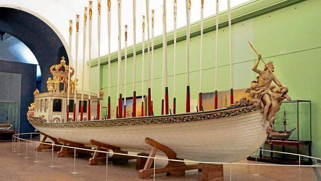 photo le canot de l'empereur était un fleuron du musée national de la marine à paris. © ouest-france