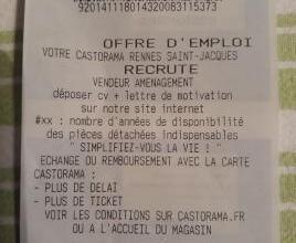 Carte Castorama Frejus.Insolite Casto A Rennes Recrute Grace Aux Tickets De Caisse