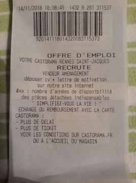 Castorama Carte Des Magasins.Insolite Casto A Rennes Recrute Grace Aux Tickets De Caisse