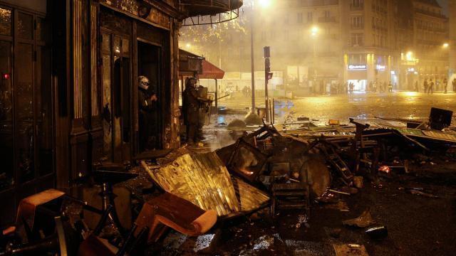 photo les commerçants craignent un troisième week-end de blocage. © afp