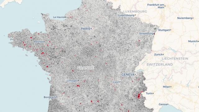 Carte Europe Gratuite.La Carte Des 224 Communes Francaises Qui Auront Un Acces