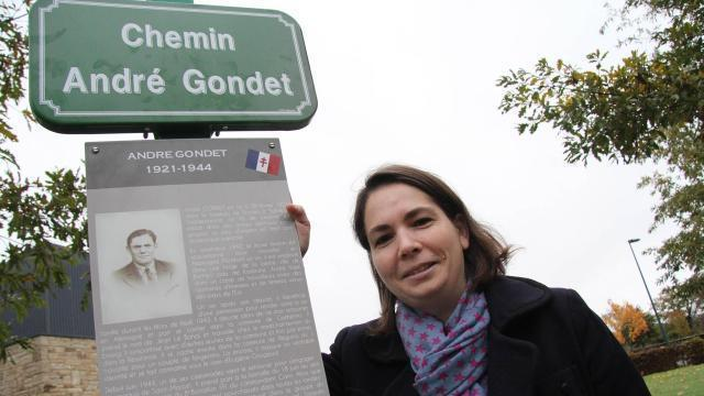 photo stéphanie trouillard, journaliste d'origine nantaise, rend hommage à son grand-oncle, andré gondet. © archives ouest-france