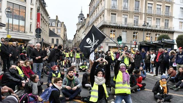 photo neuf personnes ont été interpellées, samedi 9 février, lors d'une manifestation de gilets jaunes. © archives ouest-france