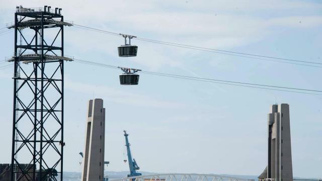 photo les câbles de traction du téléphérique urbain de brest vont être changés, normalement en mai. ils ont été jugés trop bruyants par brest métropole. © archives