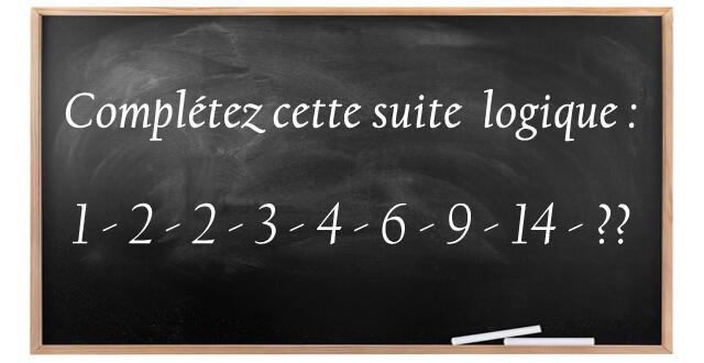 photo enigme. quel nombre complète la suite logique ?