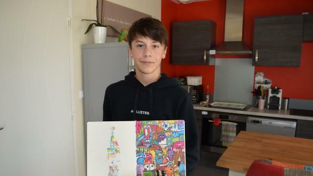 Coloriage Foot Sco Angers.Pres D Angers Piix Art 15 Ans Et Passionne De Doodle Art Angers