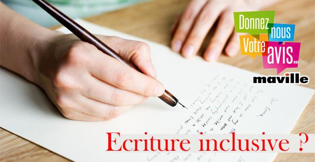 photo debat. utilisez-vous l'écriture inclusive ?