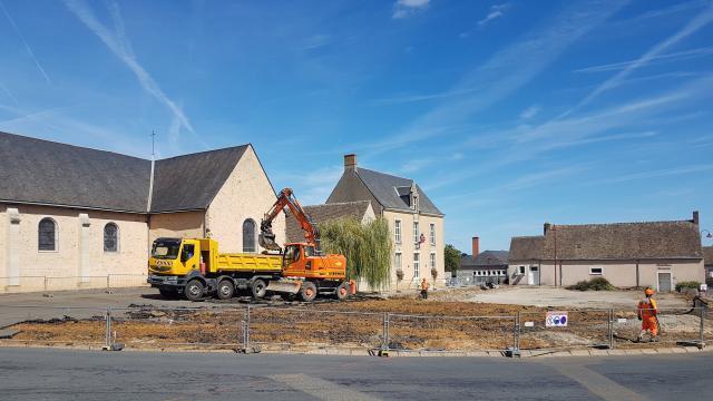 saint-corneille  cinq mois de travaux dans le bourg