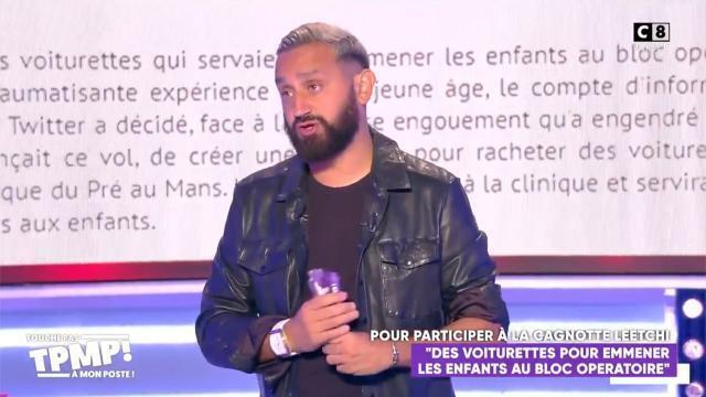 photo info cyril hanouna, lors de l'émission de lundi soir.