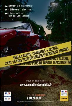 photo le taux d'accident du à la consommation de stupéfiants est en très forte hausse. © sécurité routière