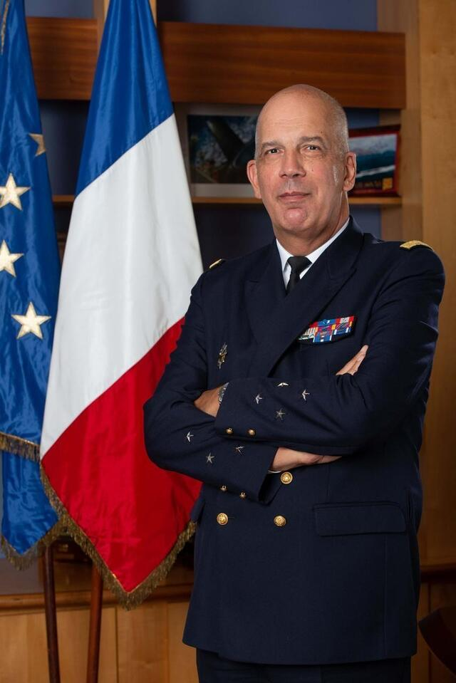photo l'amiral commandant les forces sous-marines et la force océanique stratégique (alfost) est le vice-amiral d'escadre jean-philippe chaineau. © dr/marine nationale/pm olivier lecomte