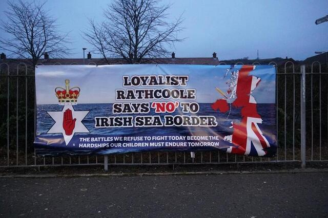 Pictured across Northern Ireland, posters show anger and opposition to Brexit.  © Juliette Demas