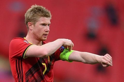 Photo Kevin de Bruyne, Captain of the Red Devils.  © Afpa