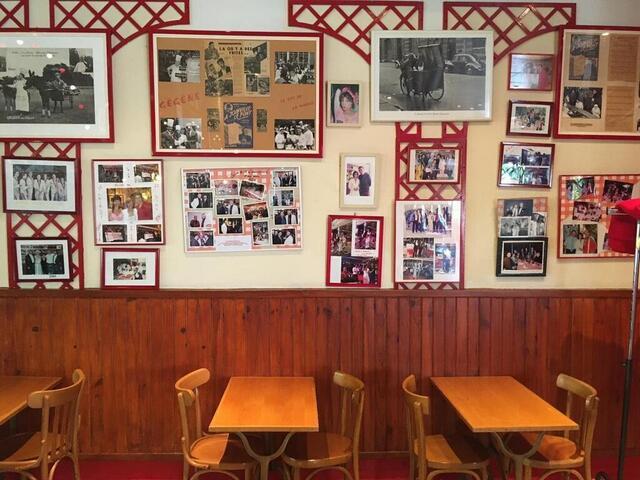 foto en las paredes de la habitación, un siglo de fotos de celebridades y recortes de prensa cuenta la historia del establecimiento.  © thibaut chéreau, oeste de Francia
