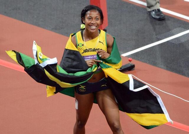 En la foto de 2012, Shelley Ann Fraser-Price ganó su segundo título olímpico en los 100 metros.  © af. Archive