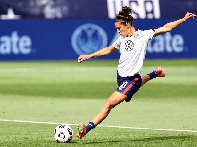Foto Carli Lloyd aspira a una tercera medalla de oro con el equipo de fútbol de Estados Unidos.  © afp