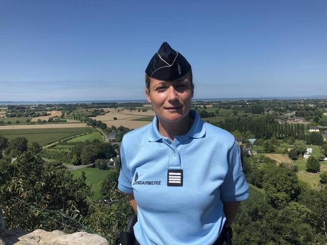 photo à 35ans, la cheffe d'escadron eva prigent a pris le commandement de la compagnie de gendarmerie de saint-malo, depuis le 1eraoût.  ©  ouest-france
