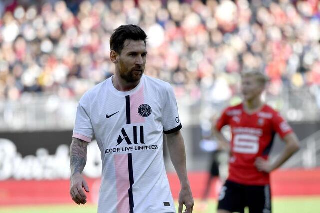 Foto de Lionel Messi, aquí en el Roazon Park durante la novena jornada de la Liga Uno contra el Estadio de Rennes.  © Thomas Brigardis / Oeste de Francia